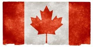 Canadá bandera grunge grungy