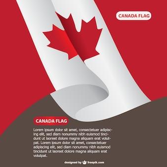 Plantilla con bandera de Canada
