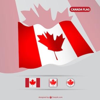 Vector bandera de Canada