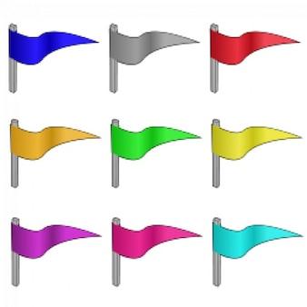 canicas del juego - las banderas