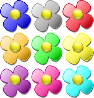 canicas del juego - las flores