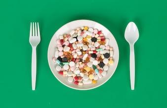 Cápsulas y pastillas de colores