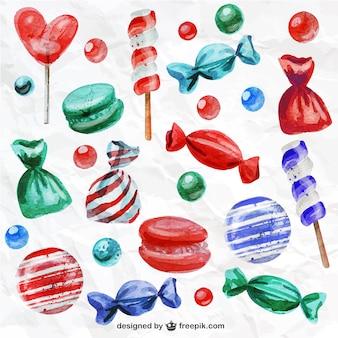 Caramelos pintados a mano