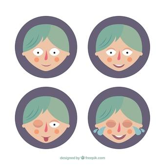 Caras de dibujos animados