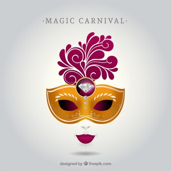 Máscara de carnaval con diamante