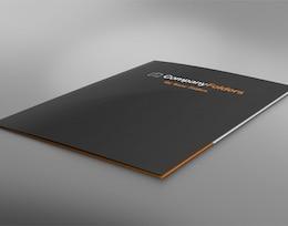 Carpeta de presentación bajo ángulo plantilla maqueta psd gratis
