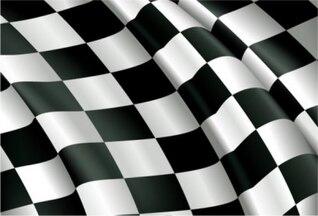 carreras de tela bandera bandera vector