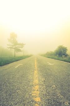Carretera de asfalto estropeada