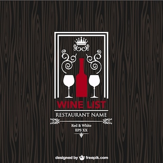 Carta de vinos vintage