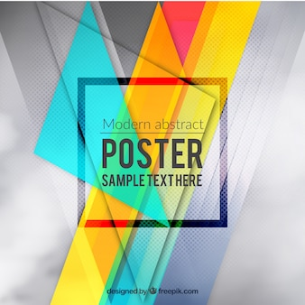 Cartel abstracto colorido