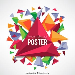 Cartel abstracto en el estilo geométrico