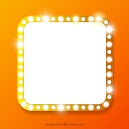 Cartel cuadrado con luces