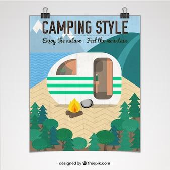 Cartel de camping