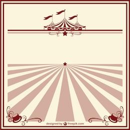 Cartel de circo vintage