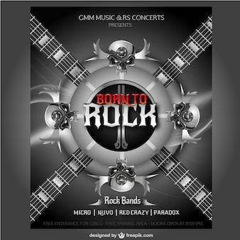Cartel de concierto de rock