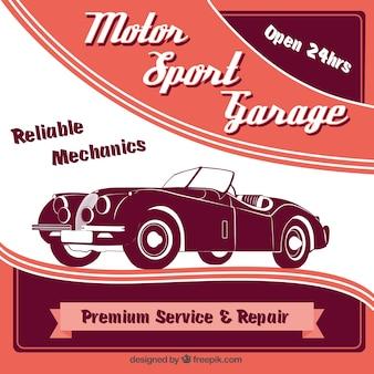 Cartel de deporte motor
