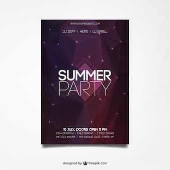 Cartel de fiesta de verano en estilo abstracto