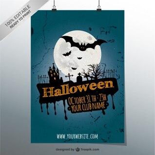 Cartel de Halloween 100% editable