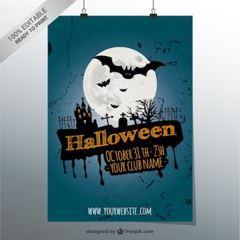 Cartel de Halloween 100% editable