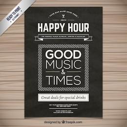 Cartel de hora feliz