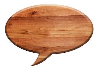 Cartel de madera con el símbolo de