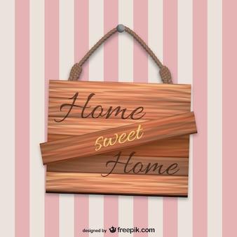 Cartel de madera de hogar, dulce hogar