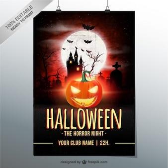 Cartel de noche de terror para Halloween