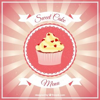 Cartel de pastel dulce