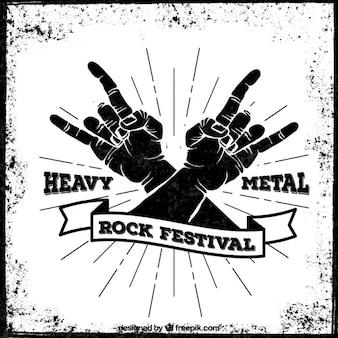 Cartel del festival de heavy metal
