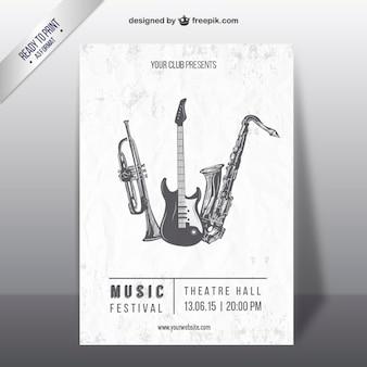 Cartel del festival de música retro
