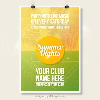 Cartel del partido del verano