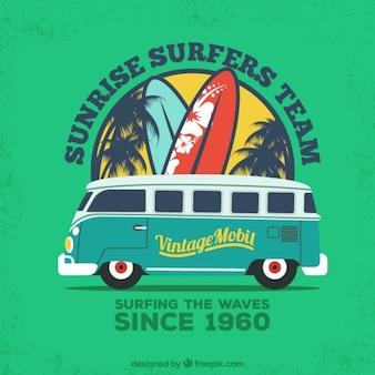 Cartel equipo de surfistas