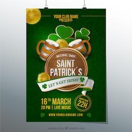 Cartel para día de San Patricio