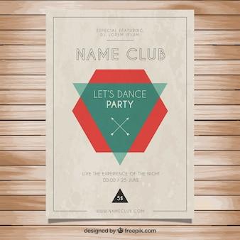 Cartel retro del partido
