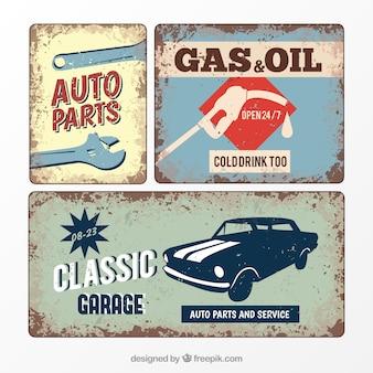 Cartel retro garaje