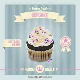Cartel vintage de cupcake