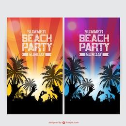 Carteles de fiesta de verano en la playa