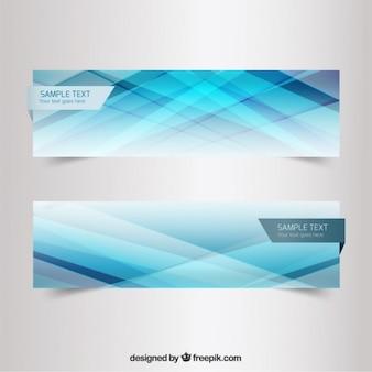 Carteles de lineas borrosas en tonos azules
