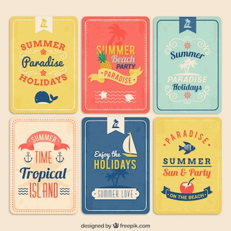 Carteles retros del verano