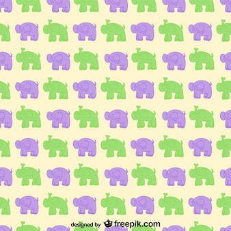 Patrón de elefantes