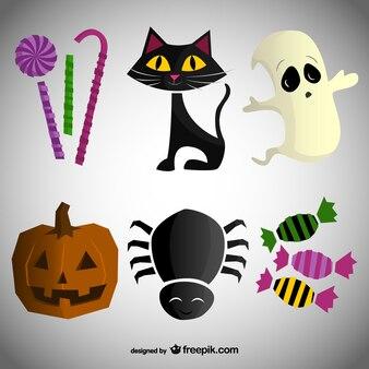 Conjunto de dibujos para Halloween