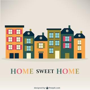 Casa de la vendimia del vector, dulce hogar