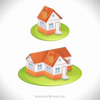Casa en estilo de dibujos animados