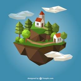 Casas de campo poligonales