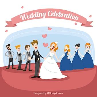 Celebración de la boda heterosexual