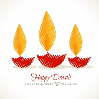 Celebración india con hermosas llamas