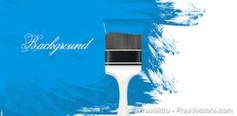 Cepillo pintado pared azul