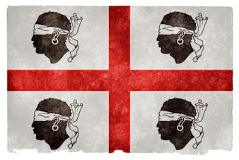 Cerdeña histórico grunge bandera