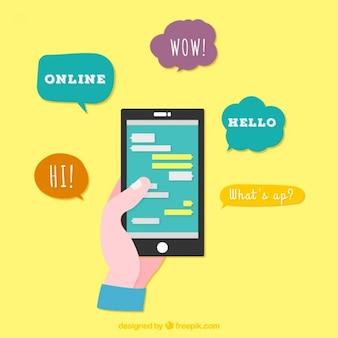 Chatear teléfono móvil