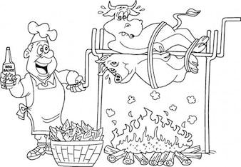 Chef de barbacoa